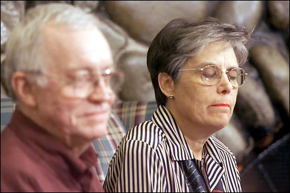 Lynn Chapman tries to contain her emotions as husband Will Chapman remembers their son.