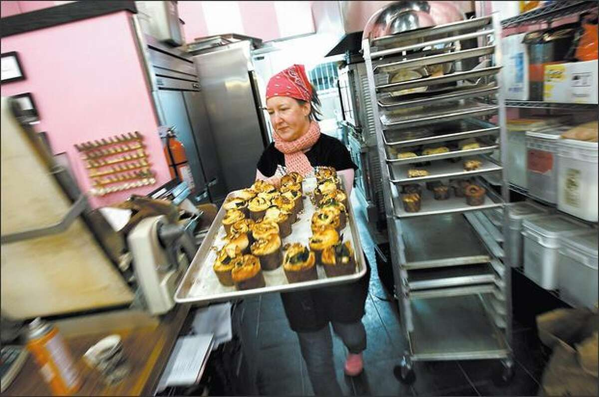 Stephanie Crocker sold her pastries wholesale at first, but soon decided she wanted her own bakery.