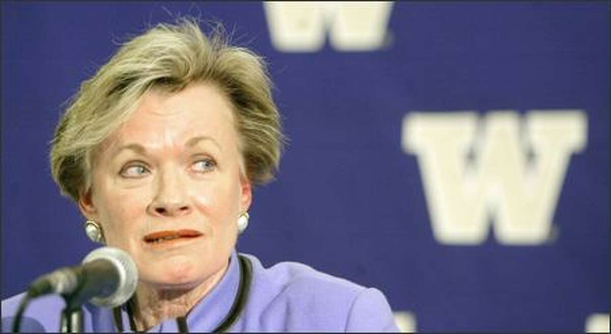 Despite a recent contract extension through June, Barbara Hedges, 66, announced her retirement after 12 1/2 years as University of Washington athletic director, effective Friday, with Dick Thompson named interim AD.