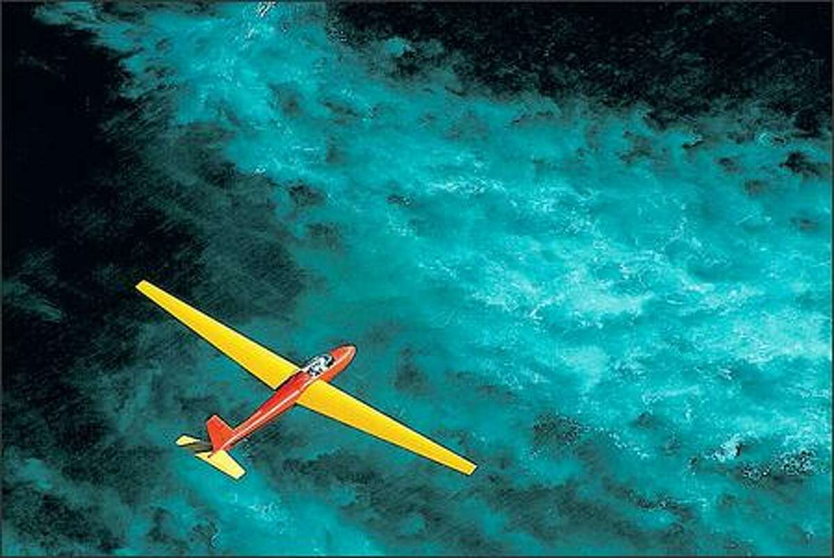 Gliding silently over the blue Pacific is a heavenly, reasonably smooth experience, depending on the air currents.