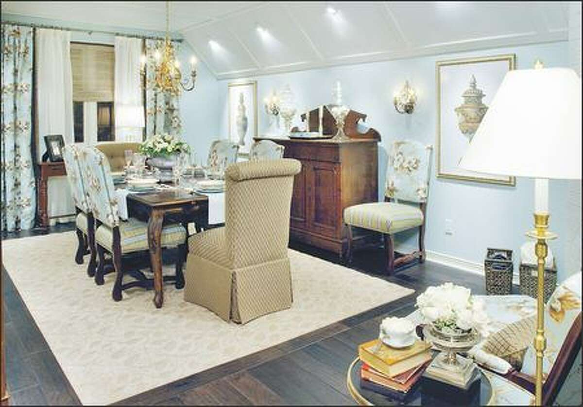 A dining room that had become a dumping ground is transformed into a formal eating area for gatherings large and small.