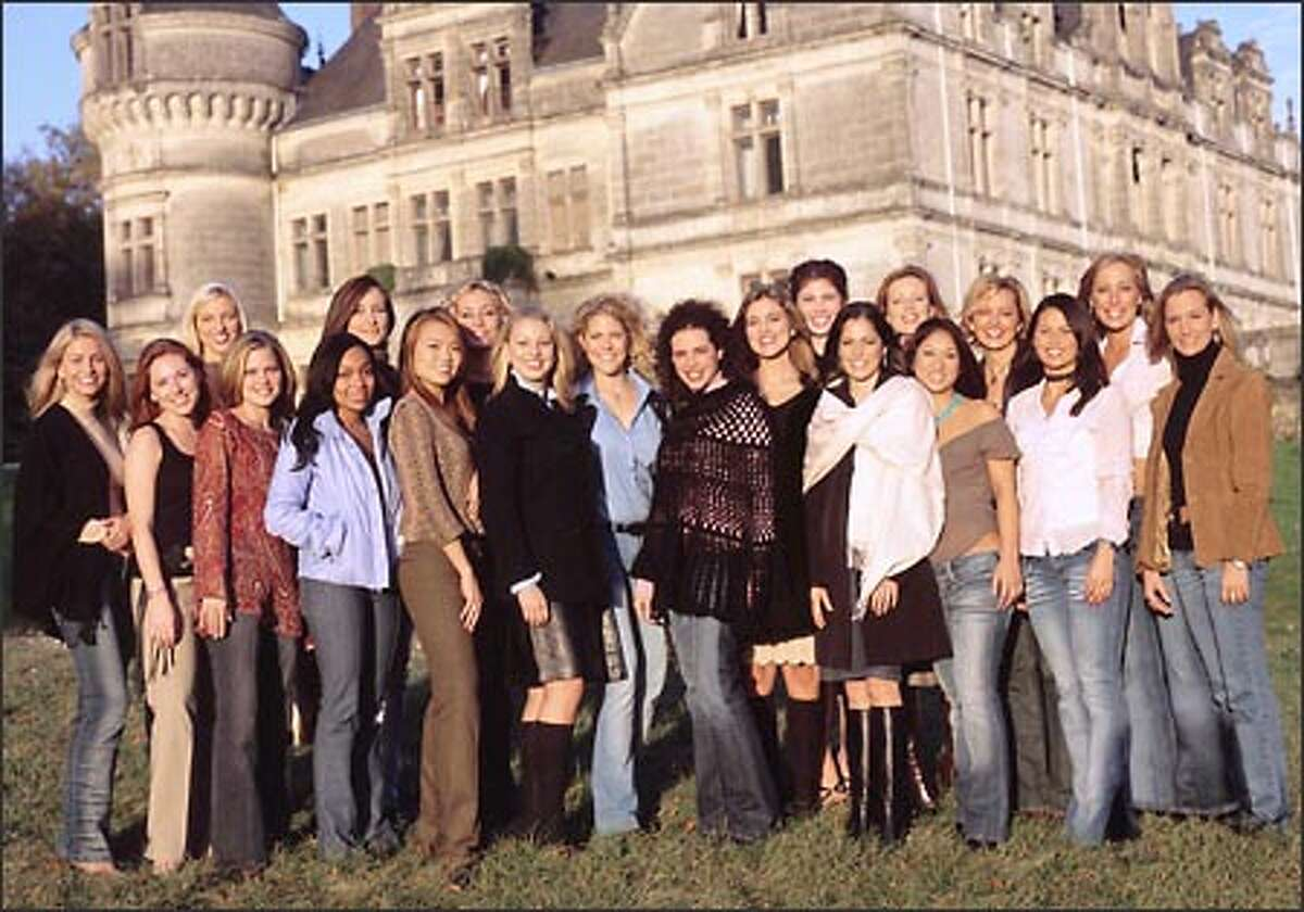 """""""Joe Millionaire"""" attracted the largest audience for any new reality show or new series. Twenty women, pictured here, started the competition for what they believe is the gold. Pictured, l-r: Sarah, Melissa W., Dana, Katy, Zora, Dayana, Mary, Heidi, Andrea, Erica, Melissa M., Jennifer, Amy, Amanda, Alison, Katie, Gretchen, Brandy, Melissa Jo and Mandy."""