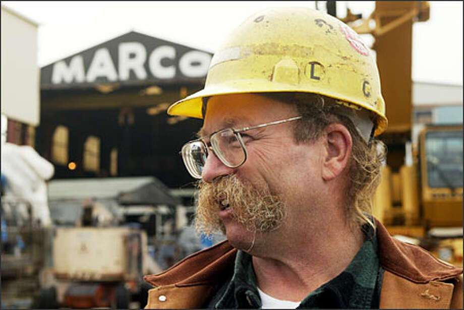 Dock master Al Brands has worked at the Marco shipyard for 27 years. When it closes this week, he will be looking elsewhere for work. Photo: Phil H. Webber, Seattle Post-Intelligencer / Seattle Post-Intelligencer