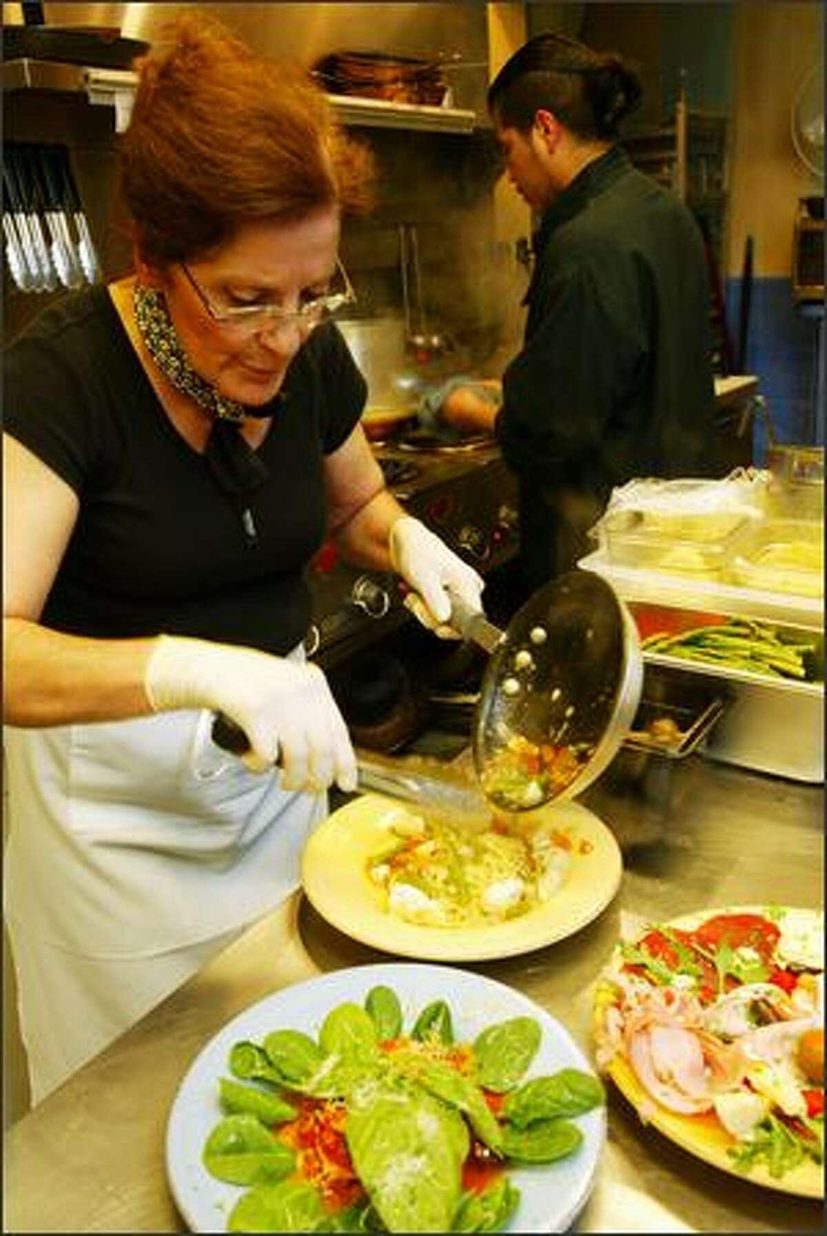 Mama Enza, as she's known, does most of the cooking at Mondello Ristorante Italiano. The Sicilian native's son, Corino Bonjrada, co-owns the Magnolia Village establishment.