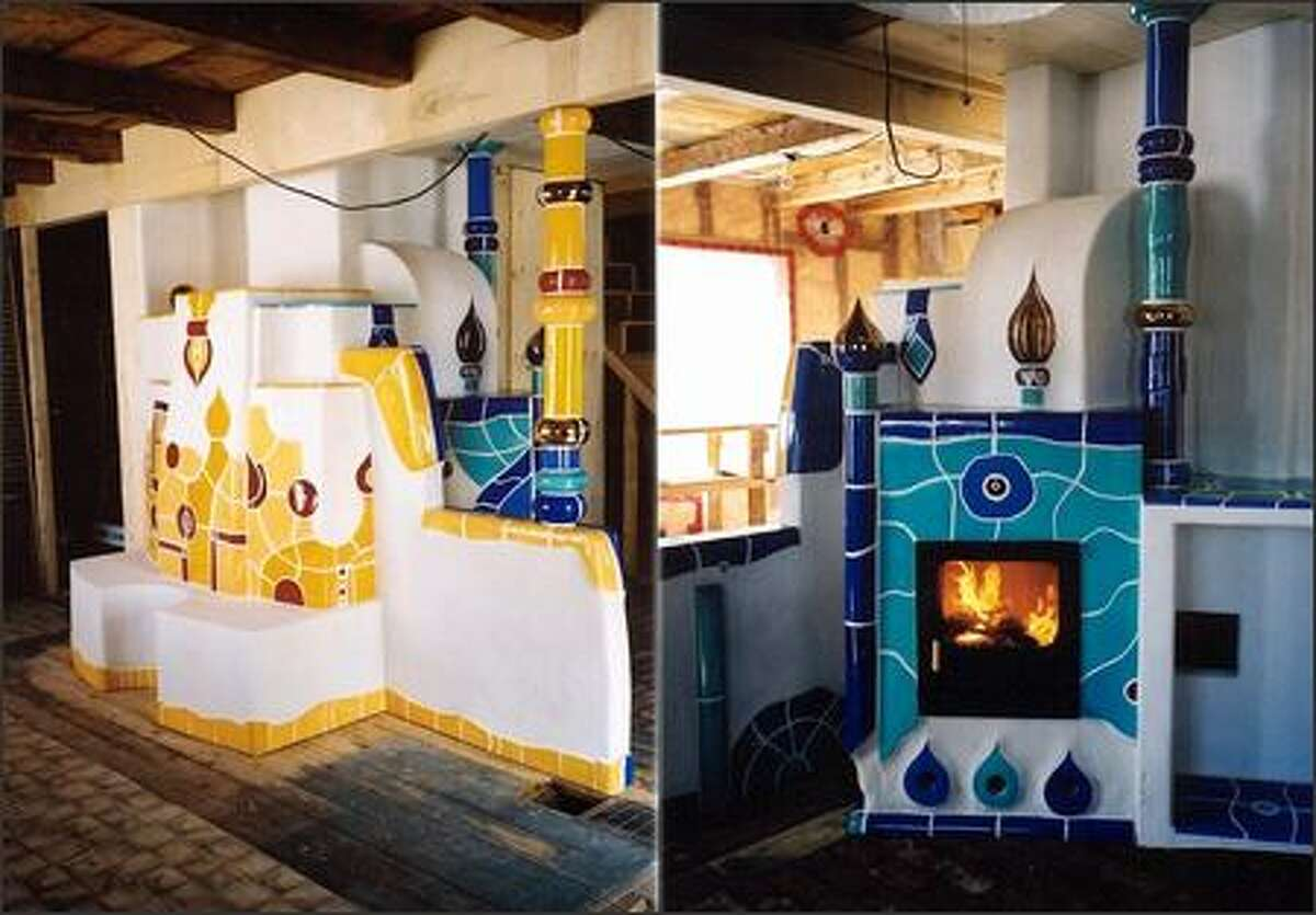 Large masonry fireplaces can sport unique decorative designs. (ERNST AND MARIA KIESLING)