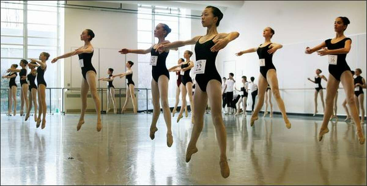 On Sunday, 106 ballet dancers audition at Pacific Northwest Ballet for a spot at the School of American Ballet's summer training program for ages 12 through 18.