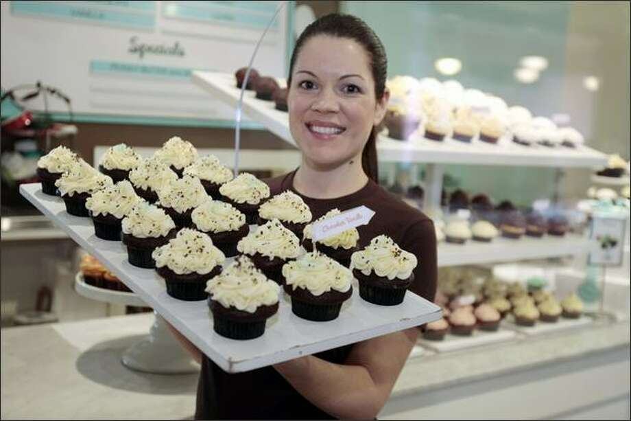 Co-owner Jennifer Shea says U Village was picked for Trophy Cupcakes No. 2 because it has a lot of stores in one place, plenty of foot traffic and a niche just waiting for a place to offer coffee and treats. Photo: P-I File / P-I File