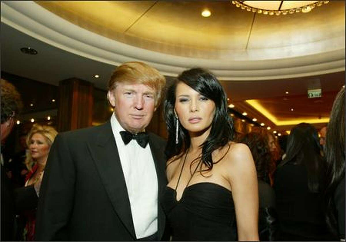 Donald Trump and Melania Knauss.