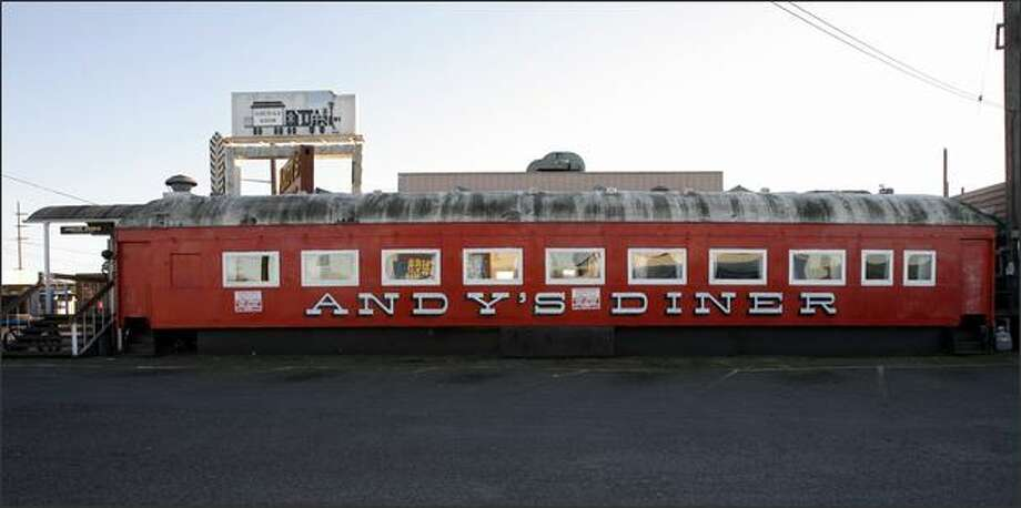 Andy's Diner, housed in a collection of historic railroad cars, has been a familiar sight for many years on Fourth Avenue South. Photo: Seattle Post-Intelligencer / Seattle Post-Intelligencer