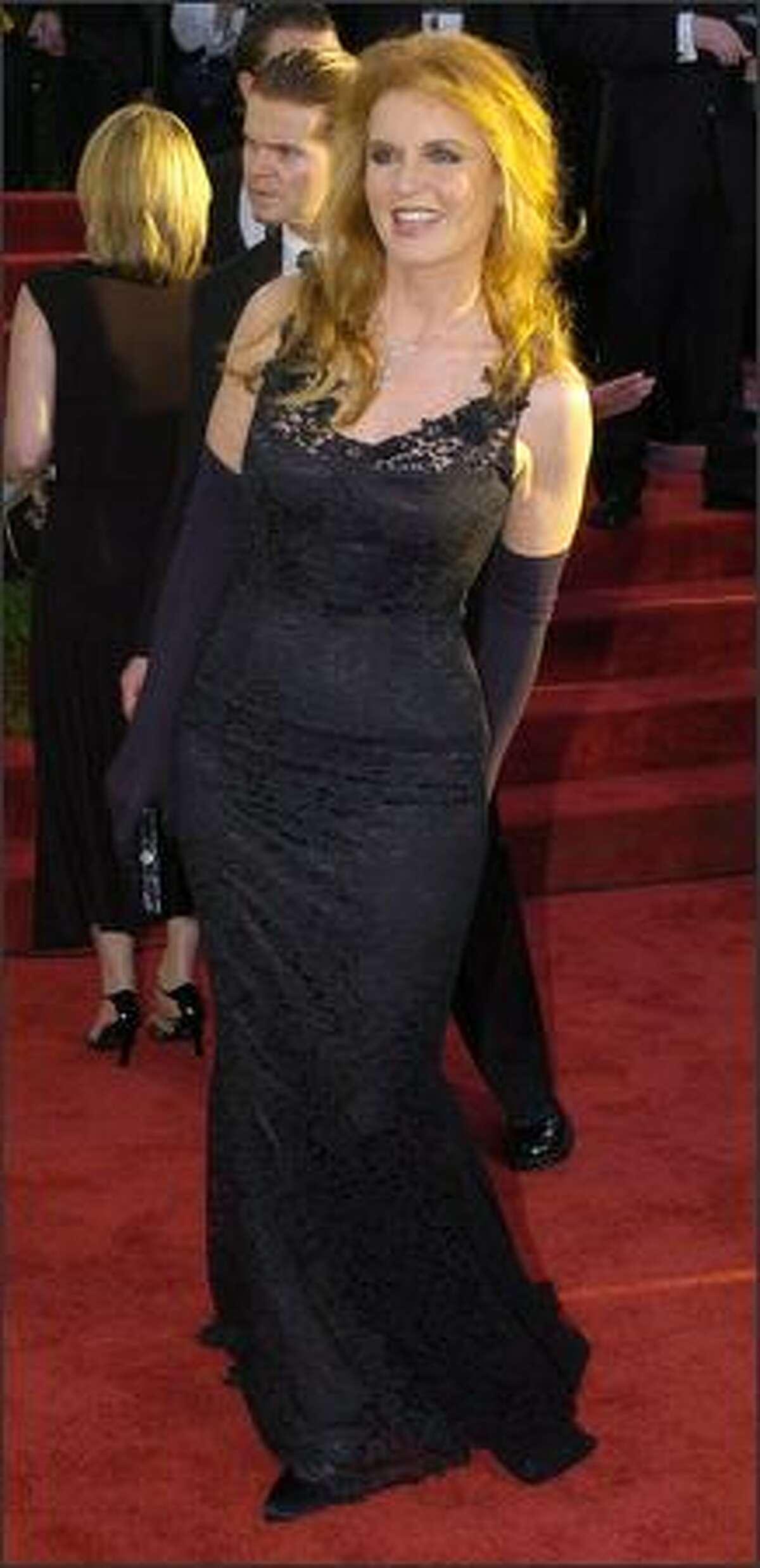 Duchess of York Sarah Ferguson arrives for the 61st Annual Golden Globe Awards in Beverly Hills, Calif., where she will be a presenter during the show. (AP Photo/Mark J. Terrill)