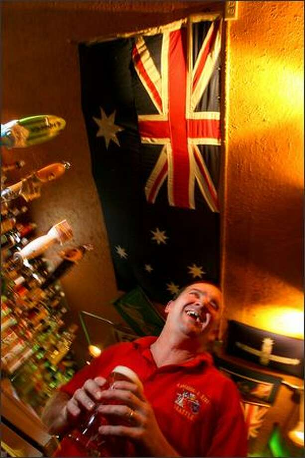 This is the sixth year for the Australia Day celebration at Brad Howe's Kangaroo and Kiwi Pub. Photo: Scott Eklund, Seattle Post-Intelligencer / Seattle Post-Intelligencer