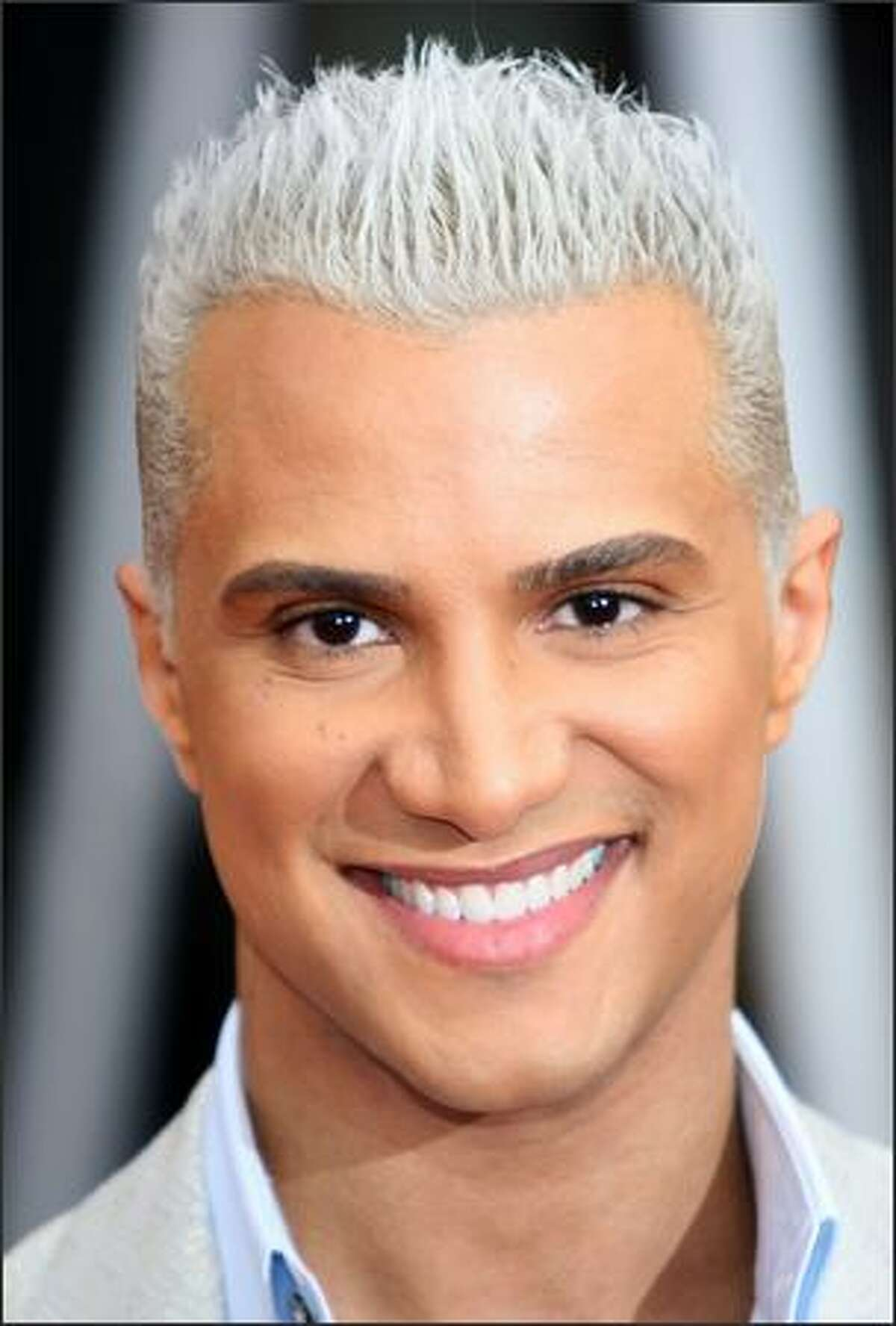 Stylist Jay Manuel arrives at the 14th annual Screen Actors Guild awards held at the Shrine Auditorium on January 27, 2008 in Los Angeles, Calif.