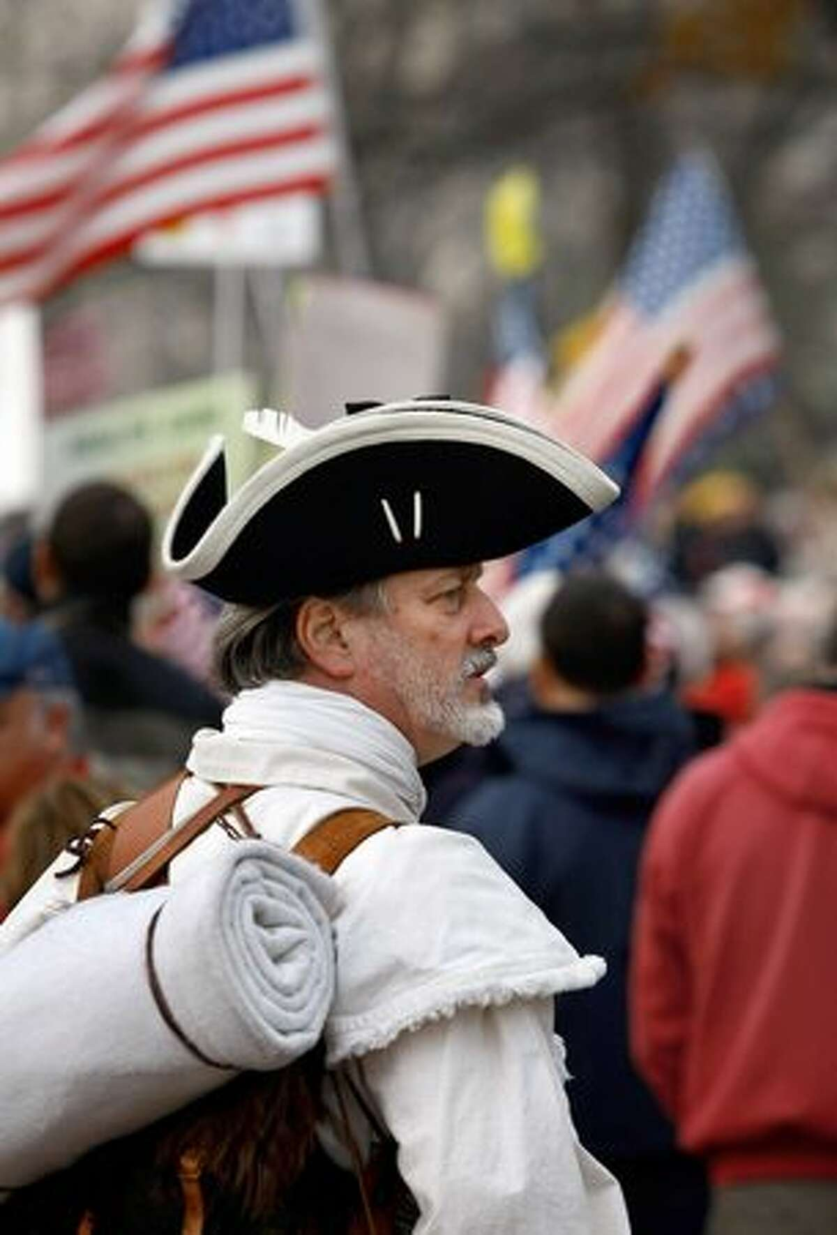 William Temple, a conservative Tea Party activist from Brunswick, Ga., protests health care reform on Dec. 15, 2009 in Washington.