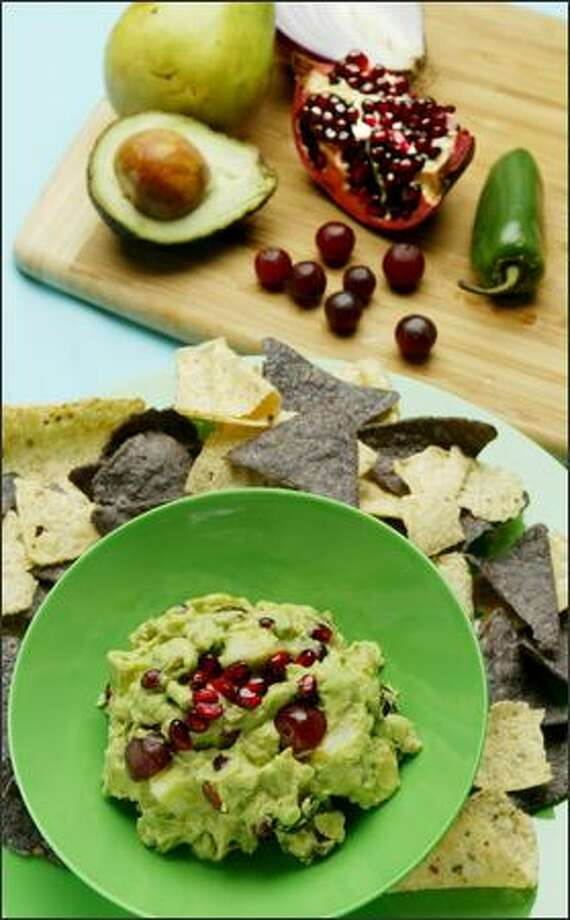 The Guacamole Chamacuero includes Bartlett pears, red grapes and oh-so-hip pomegranate seeds. Photo: Paul Joseph Brown, Seattle Post-Intelligencer / Seattle Post-Intelligencer