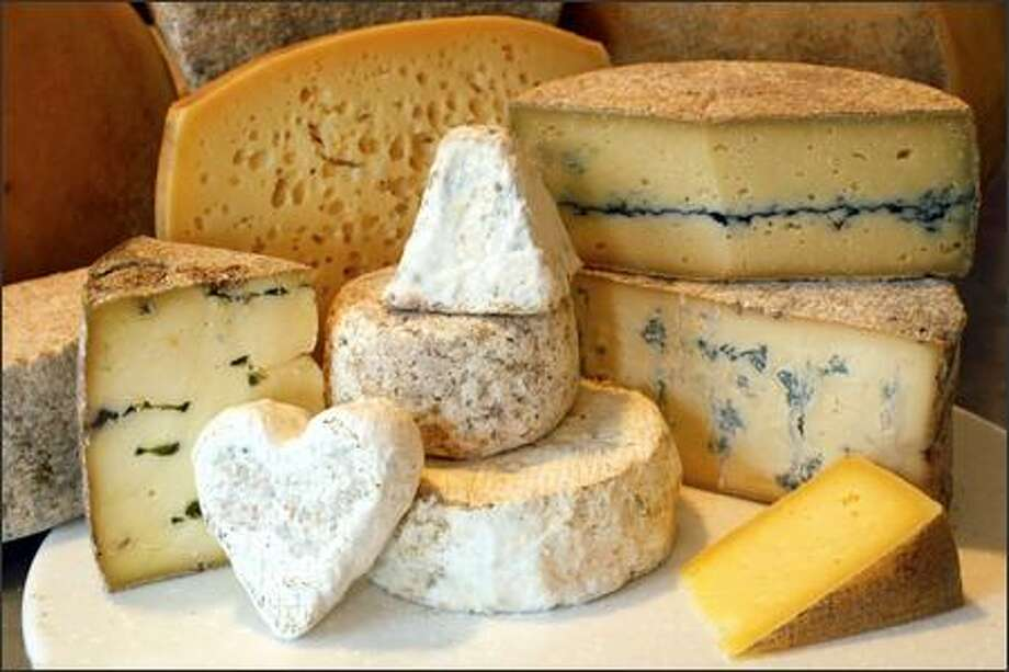 Cheeses sold at the creamery include Melange, Grisdale Goat, Wynoochee River Blue and Guapier. Photo: Dan DeLong, Seattle Post-Intelligencer / Seattle Post-Intelligencer