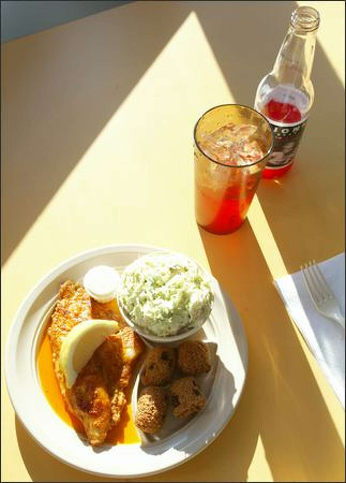 Every Tuesday the special is Cajun Style Catfish at Catfish Corner in the Central District.