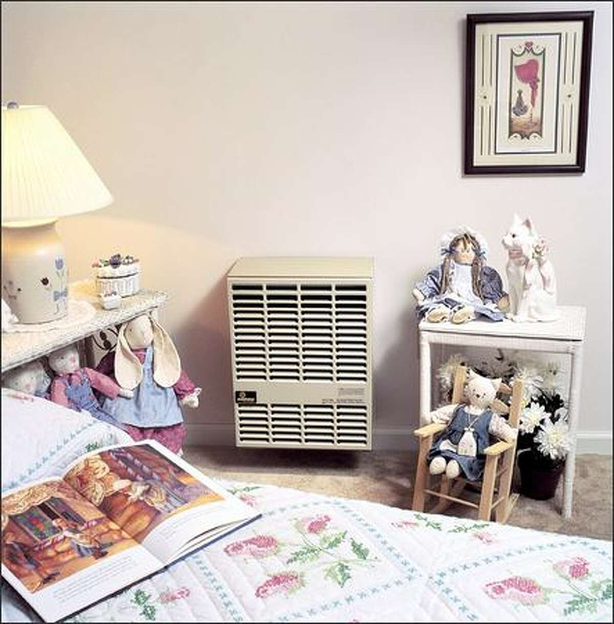 Heater options include a small, direct-vent gas heater that uses no electricity. (EMPIRE COMFORT PRODUCTS)
