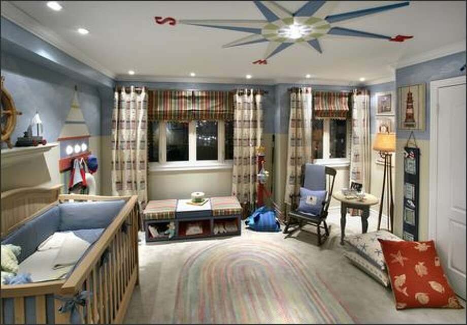 By adding kid-friendly finishes and fabrics, summery colors and accents and functional fixtures and furnishings, this room is reborn and ready to grow with the child. Photo: HGTV / HGTV