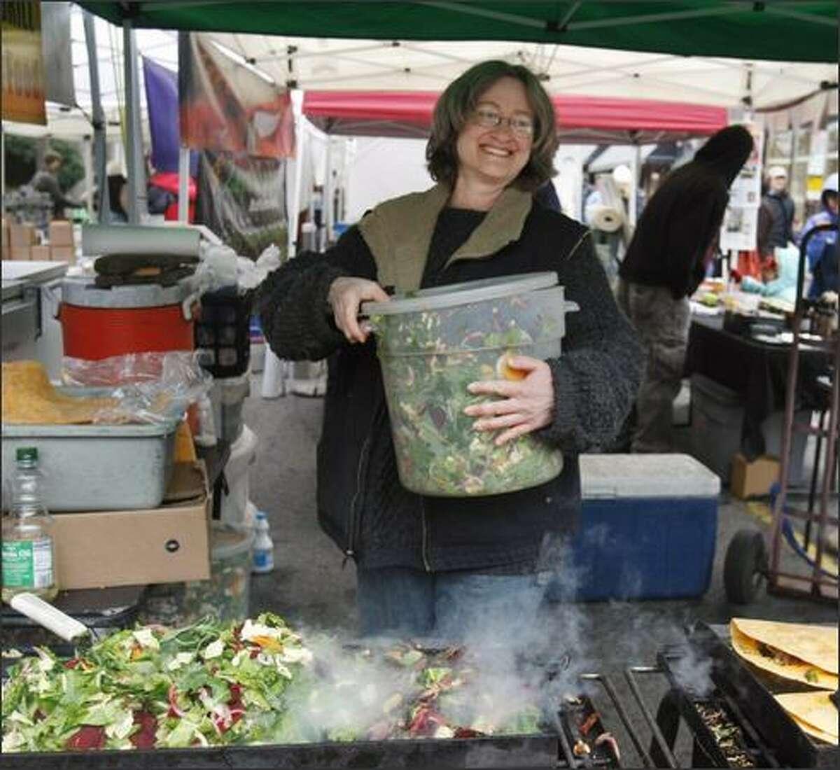 Devra Gartenstein, who makes a mean veggie quesadilla at the Ballard Farmers Market, wrote a new seasonal cookbook,