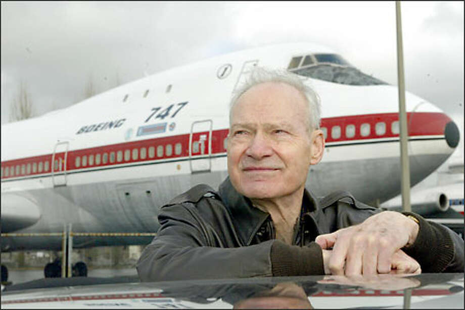 Brien Wygle was the co-pilot on Feb. 9, 1969, for the maiden flight of the Boeing 747. Wygle was a Boeing test pilot for 29 years. Photo: Phil H. Webber, Seattle Post-Intelligencer / Seattle Post-Intelligencer