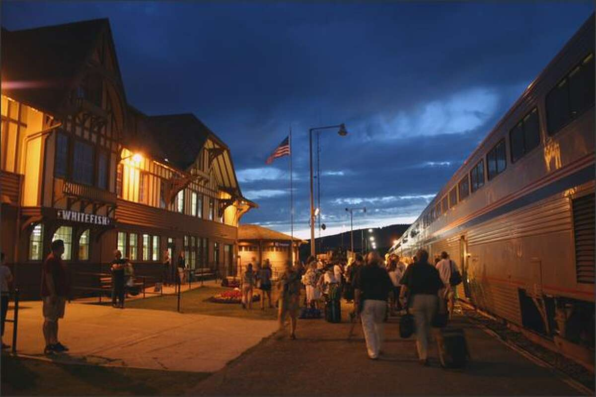 Skiers have been flocking to Whitefish, Montana, on the historic Empire Builder since the 1940s. Whitefish would lose service under Trump budget proposal.