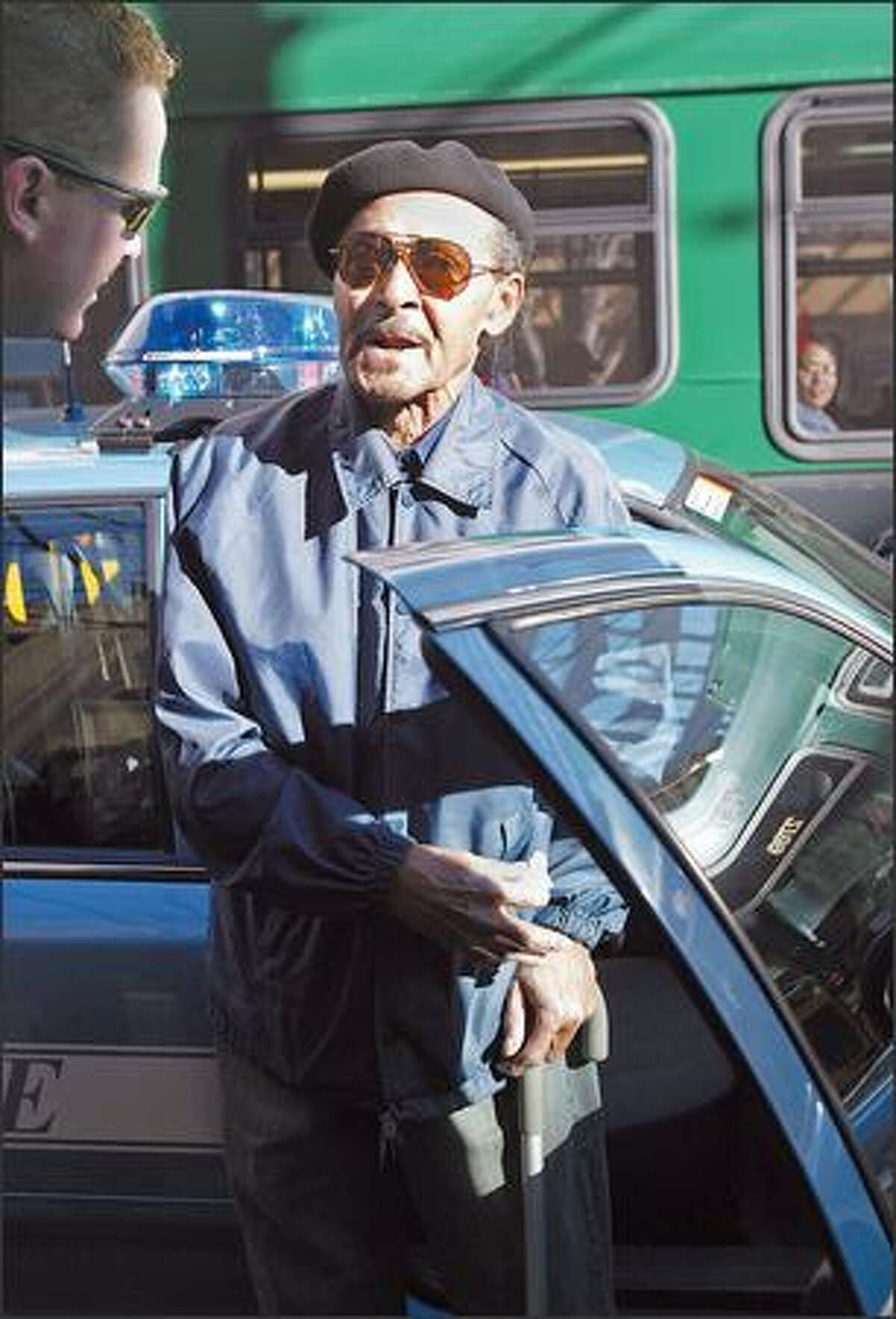 Gus Jones and his cane caught the attention of several members of the Seattle Police Officers Guild last week when the 82-year-old Seattle man used his walking stick to beat back a man who allegedly tried to set him on fire.