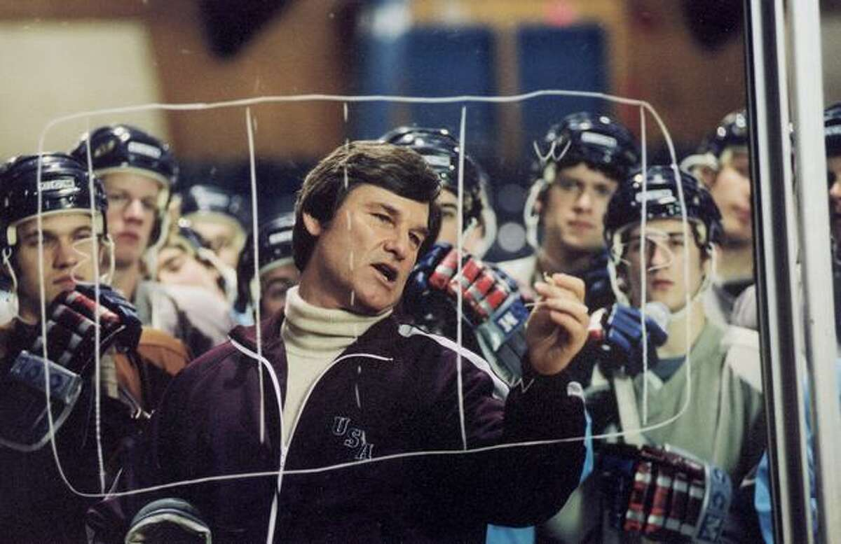 """""""Miracle"""" with Kurt Russell as the late U.S. hockey coach Herb Brooks."""
