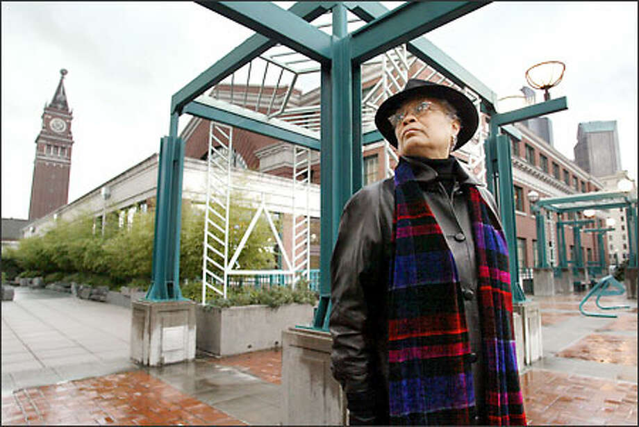 Sharon E. Sutton, a professor of architecture, is working with students at integrating the design for a transportation center at King Street Station with the surrounding neighborhood. Photo: Paul Joseph Brown, Seattle Post-Intelligencer / Seattle Post-Intelligencer