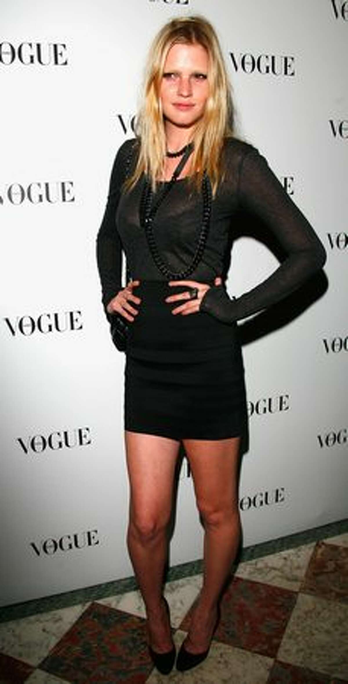 Model Lara Stone's size 4 figure has created some controversy in the modeling world. She is seen at an event in Paris in this October 2009 file photo.
