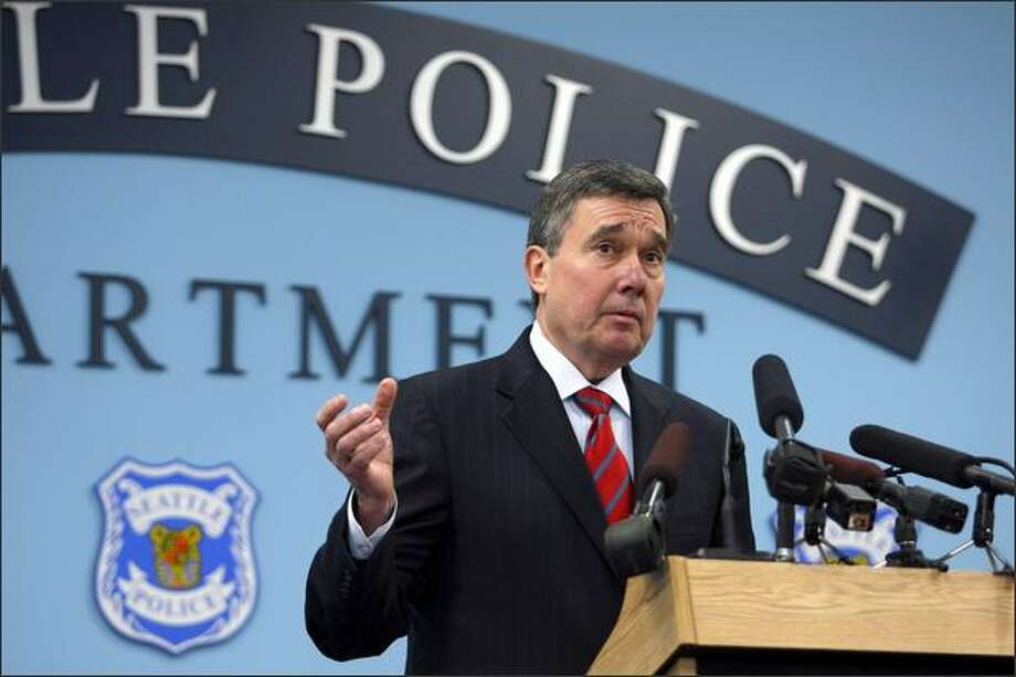 Diaz's predecessor, Gil Kerlikowske, left to become director of the Office of National Drug Control Policy. Photo: Andy Rogers, Seattle Post-Intelligencer / Seattle Post-Intelligencer
