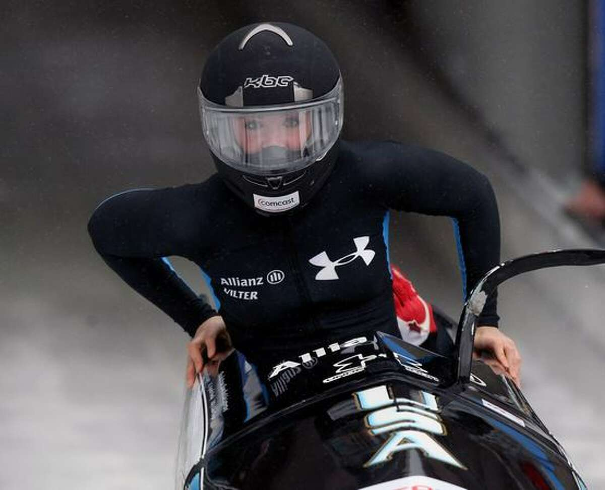 USA bobsled pilot Bree Schaaf of Bremerton is seen in a World Cup event in Germany in this Jan. 9 file photo. Schaaf is a member of the U.S. Olympic team.
