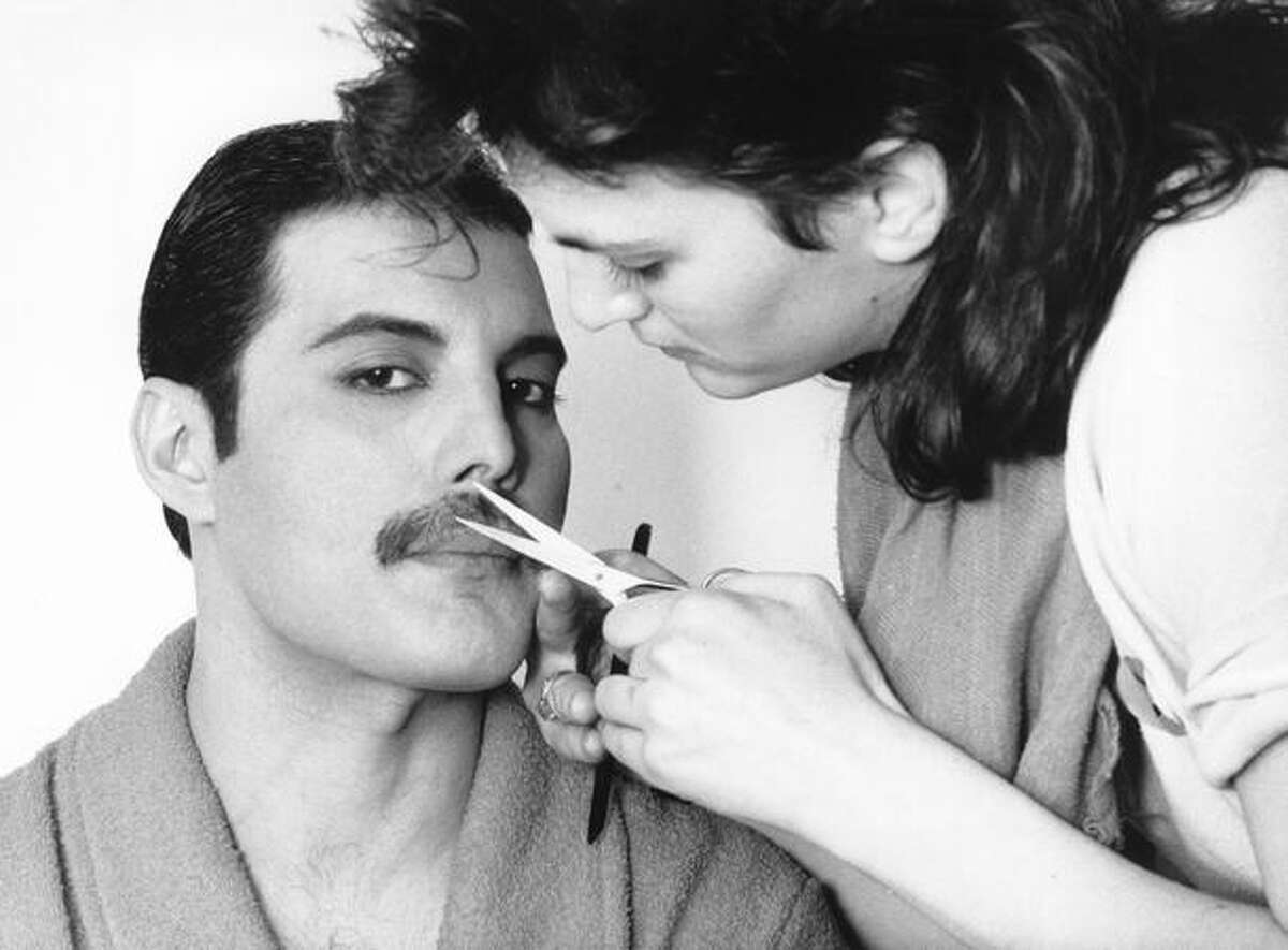 The late rock singer Freddie Mercury, of the popular British group Queen, has his mustache groomed in this 1982 file photo.