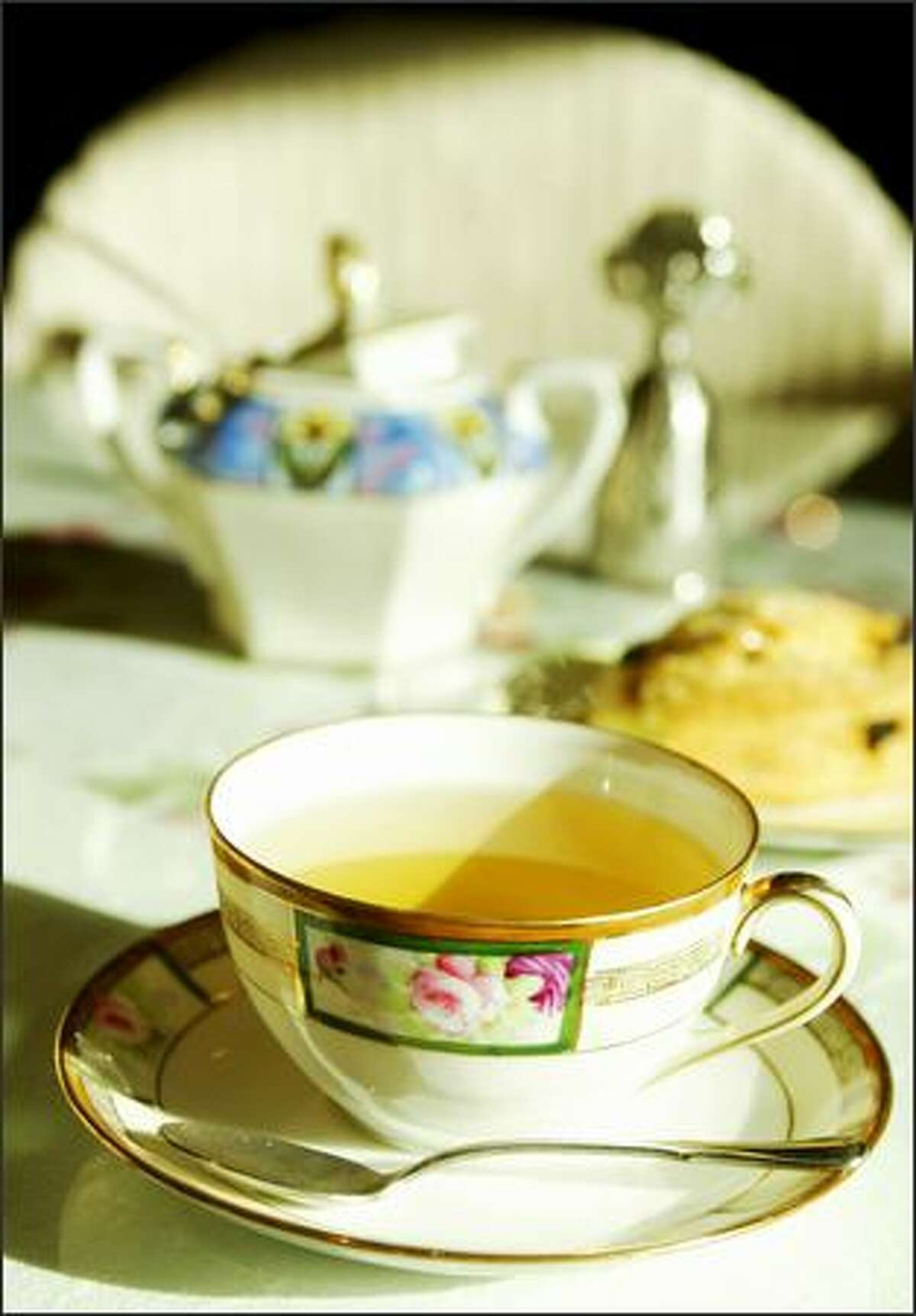 """""""A Night in Istanbul"""" is among the dozens of loose-leaf tea options served with ceremony and precision."""