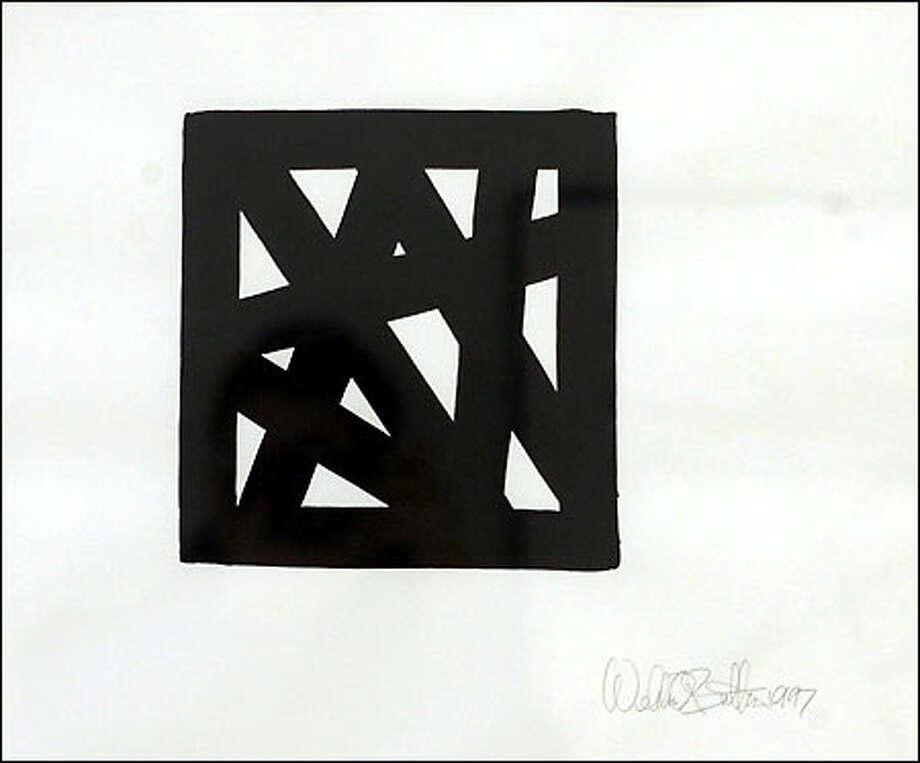 """MC 6A,"" a 1997 latex drawing by Weldon Butler. Photo: Dan DeLong, Seattle Post-Intelligencer / Seattle Post-Intelligencer"
