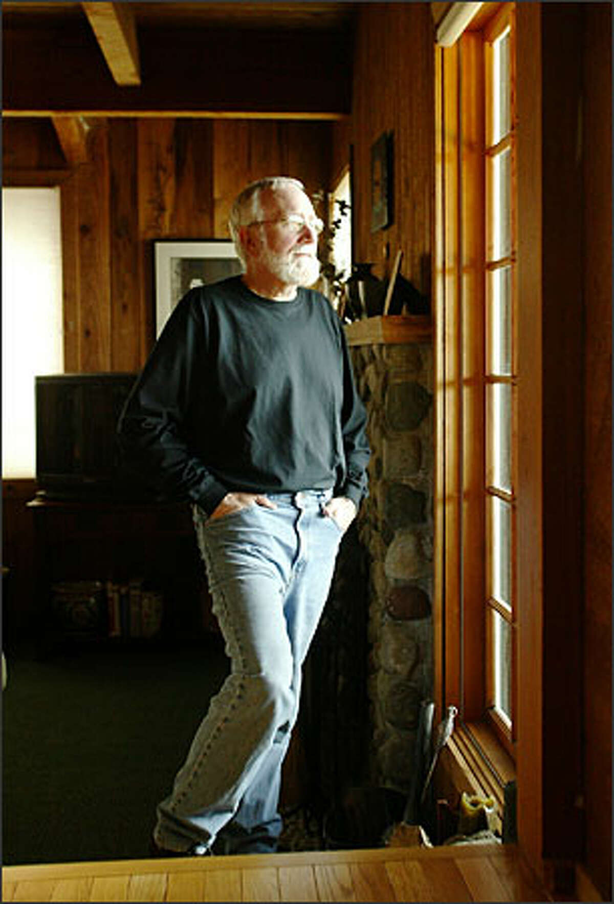 At home on Orcas Island, Norm Stamper is finishing the book he
