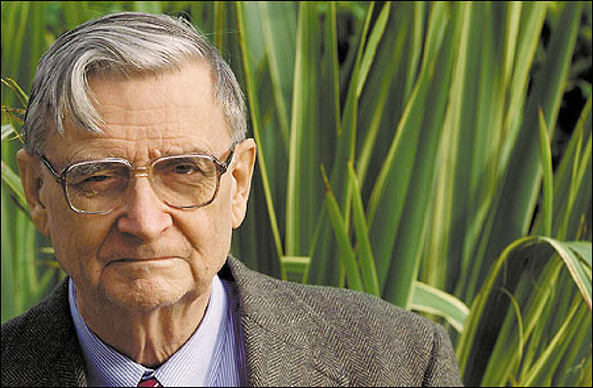 Edward O. Wilson, a retired Harvard University professor and two-time Pulitzer Prize winner, is in Seattle promoting his book