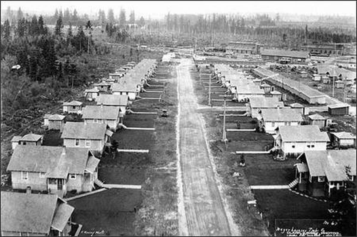 Weyerhaeuser Timber Co. houses at Vail. Weyerhaeuser operated three camps out of Vail, a community southeast of Olympia, starting in 1928.