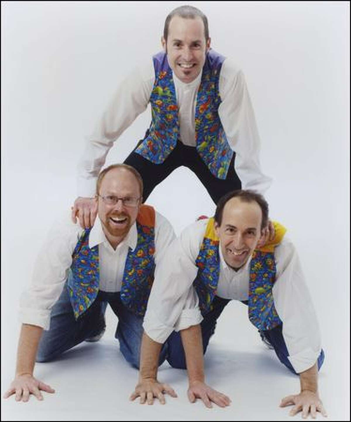 From left, Todd Gray, Brian Waite and Cliff Swiggett combine musical genres, storytelling and theater.