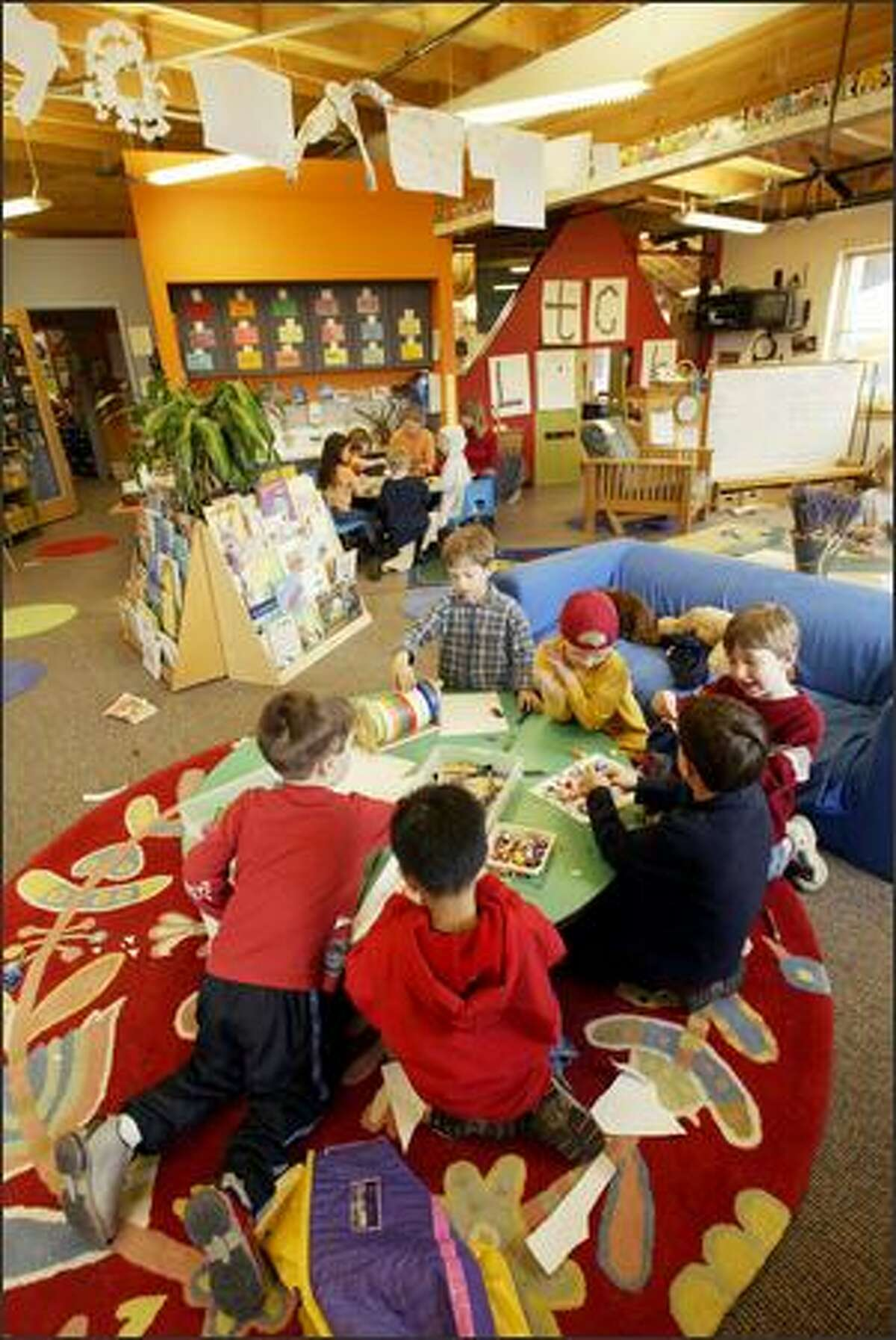 Classrooms in the University Child Development School's