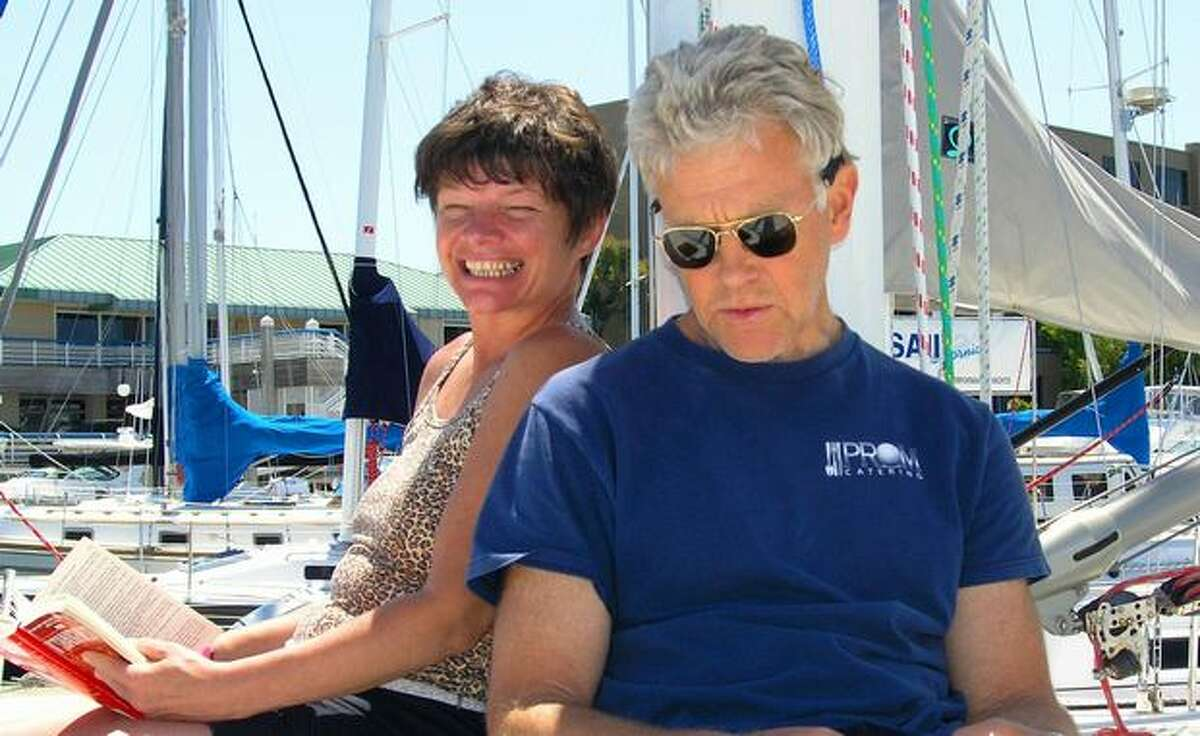 Phyllis Macay and Bob Riggle are seen on a yacht in Bodega Bay, Calif.,in this photo from June 11, 2005 (photo via Associated Press).