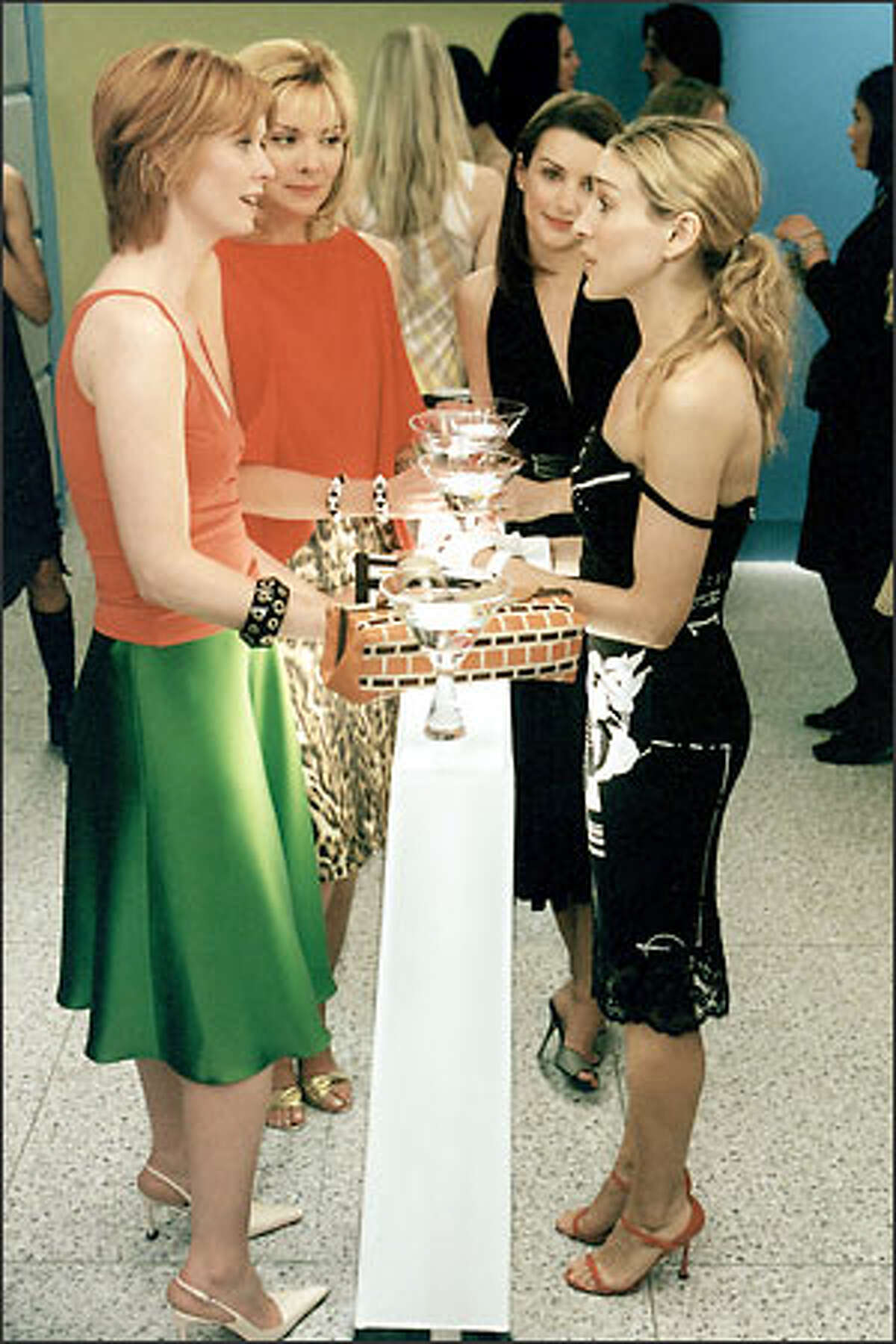 """""""Sex and the City"""" stars, from left, Cynthia Nixon, Kim Cattrall, Kristin Davis and Sarah Jessica Parker created TV characters who'll be hard to match."""