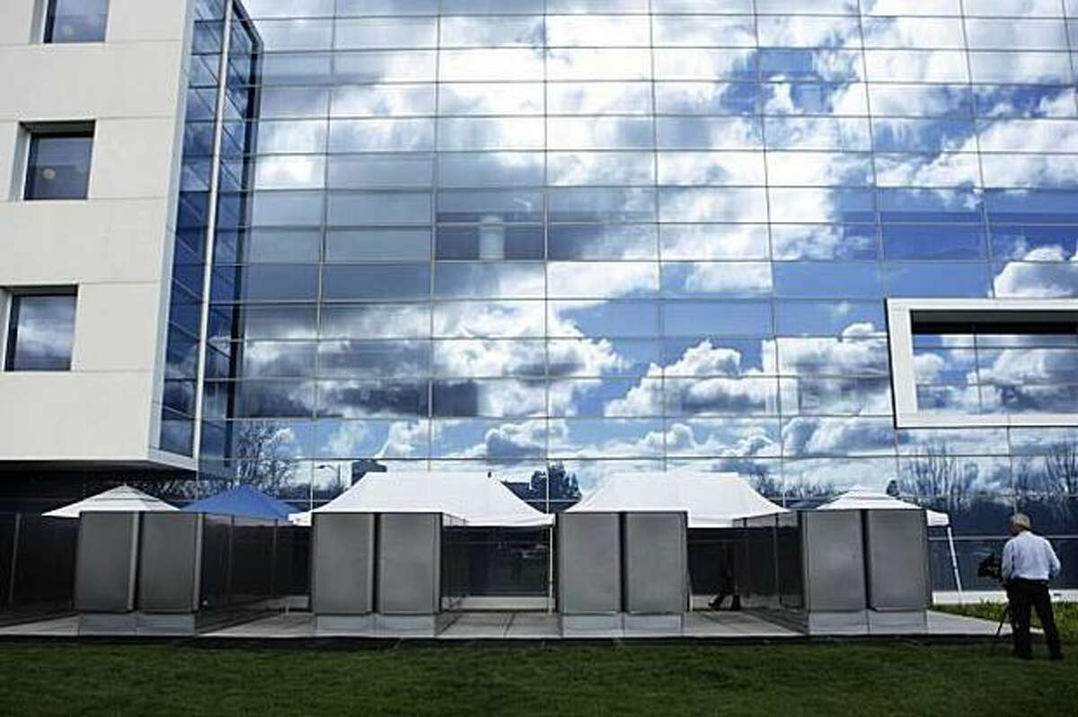 Bloom Energy Servers are shown helping to power the eBay offices in San Jose, Calif.