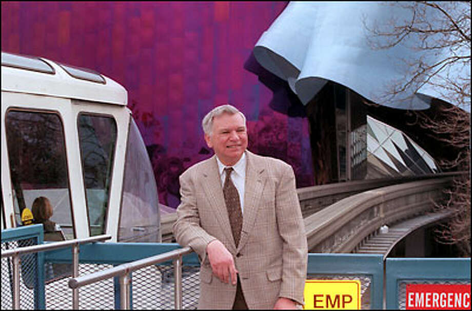 Bob Mast designed the banking and support beams for Seattle's monorail. He says the proposed extension won't happen because the city would have to revamp its technical approach. Photo: Phil H. Webber, Seattle Post-Intelligencer / Seattle Post-Intelligencer