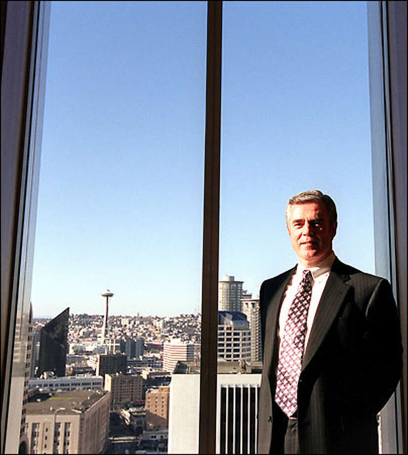"""As president of the chamber, I want to strengthen the threads of regional interdependence and connectedness,"" new CEO Steve Leahy says. Photo: Joshua Trujillo, Seattlepi.com / seattlepi.com"