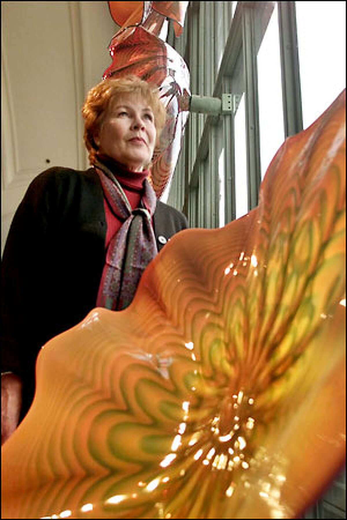 Bonnie Gallagher is the Arts Education director for the Chihuly display at Union Station in Tacoma. She was hoping those pieces survived the shaking.