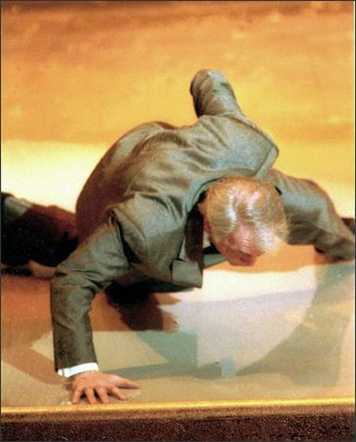 At the Oscars this year, don't expect to see stunts like Jack Palance's one-hand push-ups, which he did after winning a best supporting actor award for