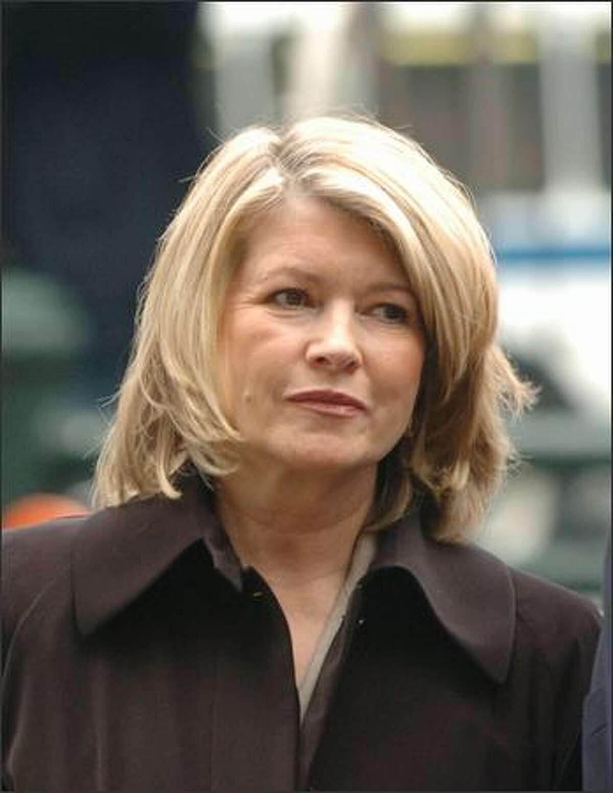 Martha Stewart enters Manhattan federal court, Tuesday, March, 2, 2004, in New York. (AP Photo/ Louis Lanzano)