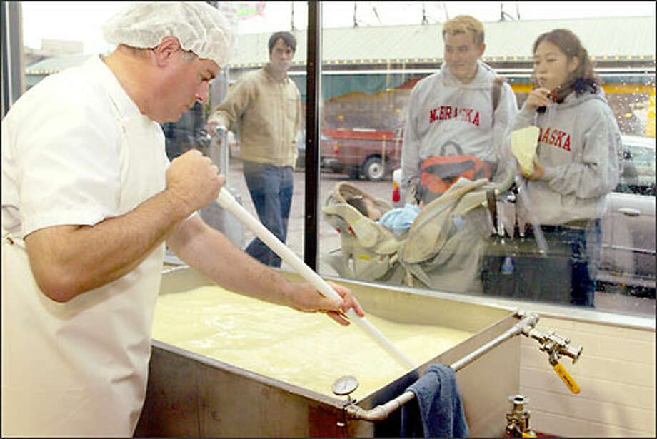 Another favorite of tourists is right in the same place, Beecher's Handmade Cheese. You can look at 'em make it while you wait to order your mac'n'cheese. Photo: Phil H. Webber, Seattle Post-Intelligencer / Seattle Post-Intelligencer