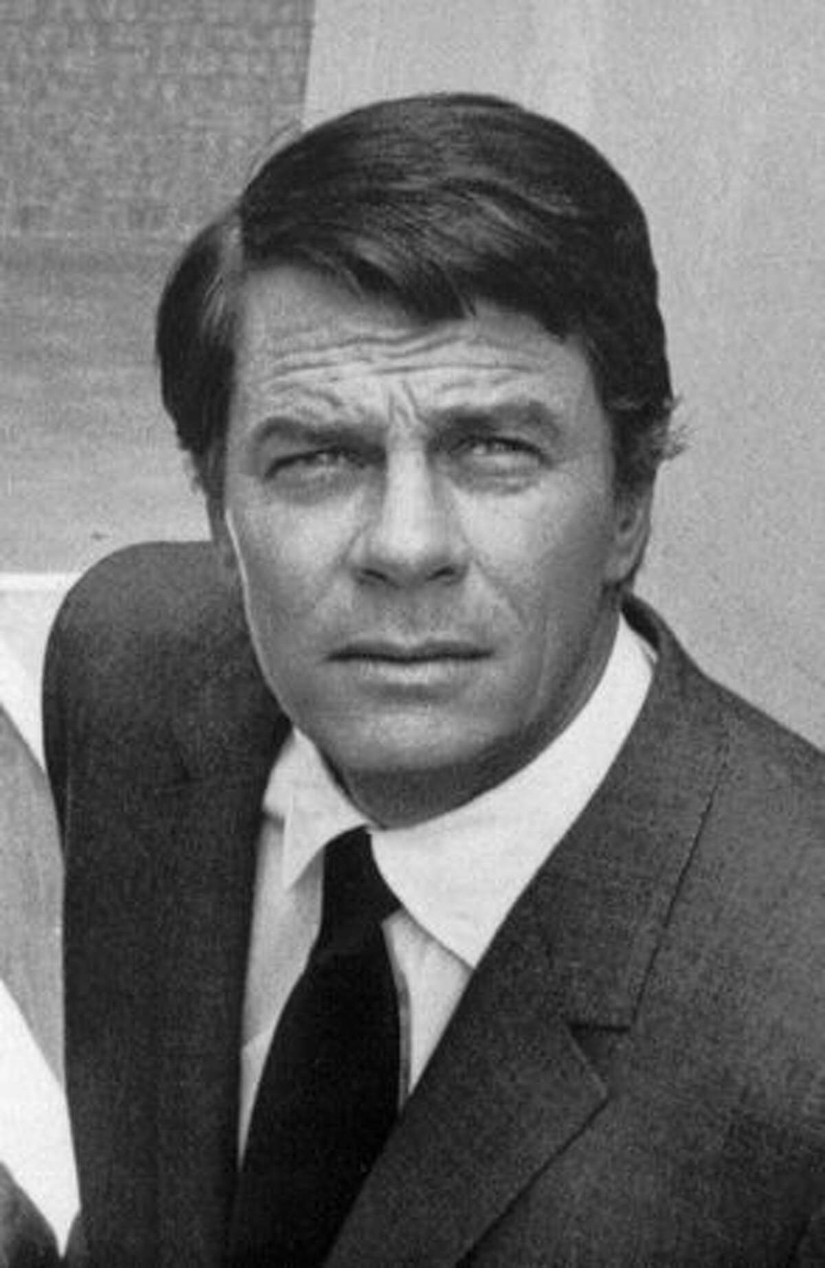 This 1969 file photo shows actor Peter Graves during shooting of the popular television show