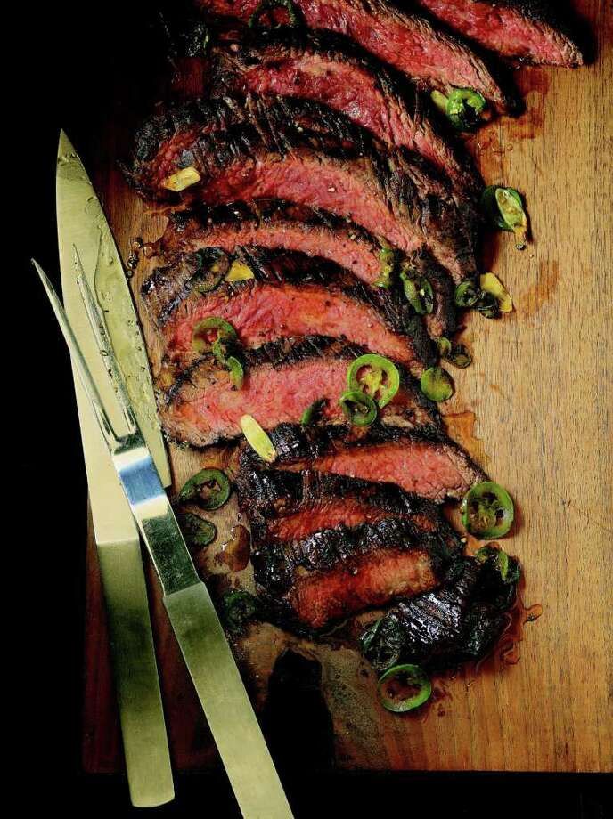 The book includes family recipes and some of Longoria's own. Here is her flank steak. Photo: Courtesy Photo